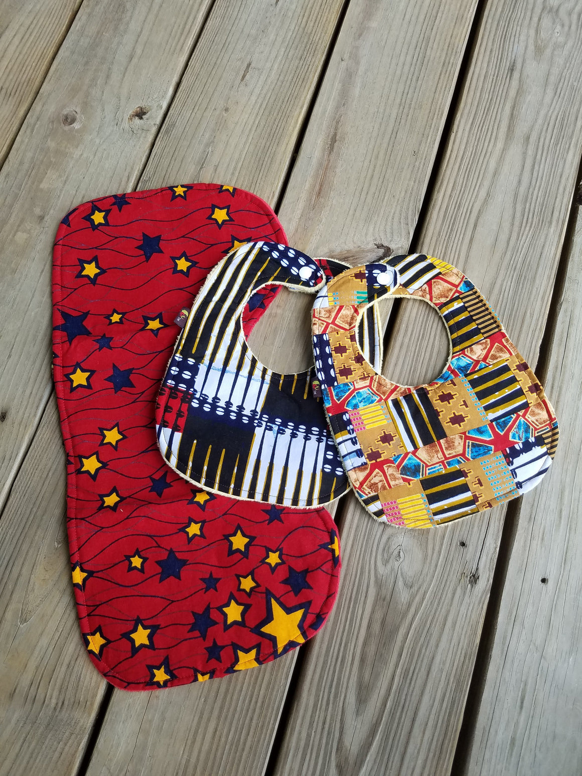 3 PC -You Are A Star Baby Bib and Burp Cloth Set