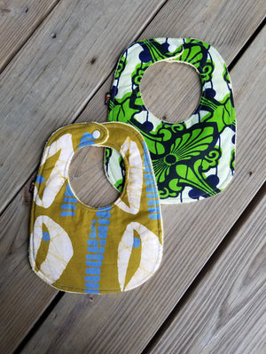 3 PC - Ade Baby Bib and Burp Cloth Set