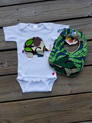 Elephant Appliqué Bodysuit (Cream)