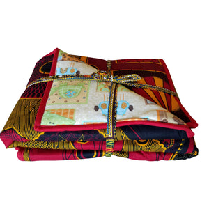 Let's Go On An Adventure Reversible Baby Blanket