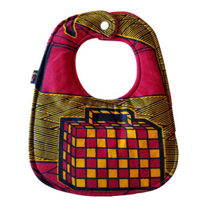Let's Go On An Adventure Baby Bib and Burp Cloth Set