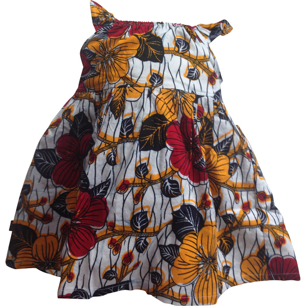 Afua Flutter Sleeve Dress