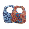 Ananse and Light Up My World 2-Pack African Print Baby Bib Set (Limited Edition)