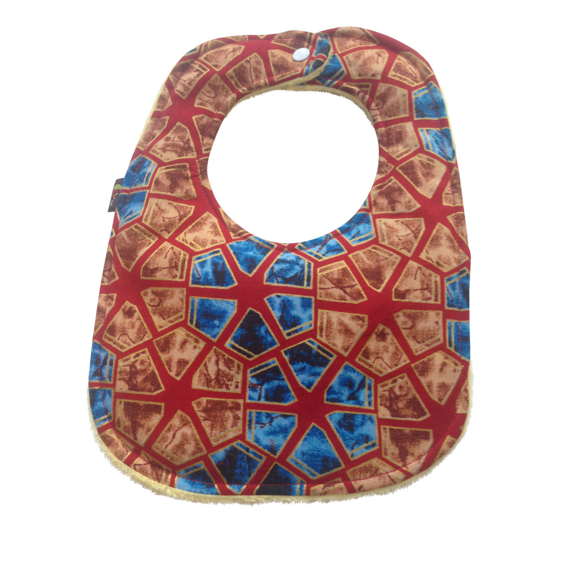 Ananse 2-Pack African Print Baby Bib Set (Limited Edition-Heart on Original)