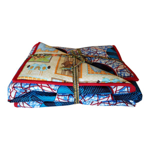 Around the World We Go Reversible Baby Blanket