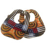 Circle of Love and Cocoa Love Patchwork 2-Pack African Print Baby Bib Set (Limited Edition)