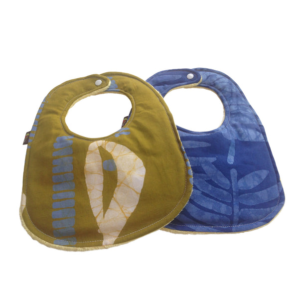 Cowrie Shell Batik  2-Pack African Print Baby Bib Set (Limited Edition)