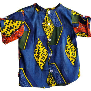 Elias Live in Color Geometric Short Sleeve Shirt
