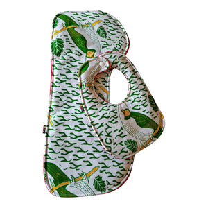 Fly High Green Bird Baby Bib and Burp Cloth Set
