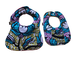 Abena African Print 2-PC Baby Bib Set (Pocketed Edition)