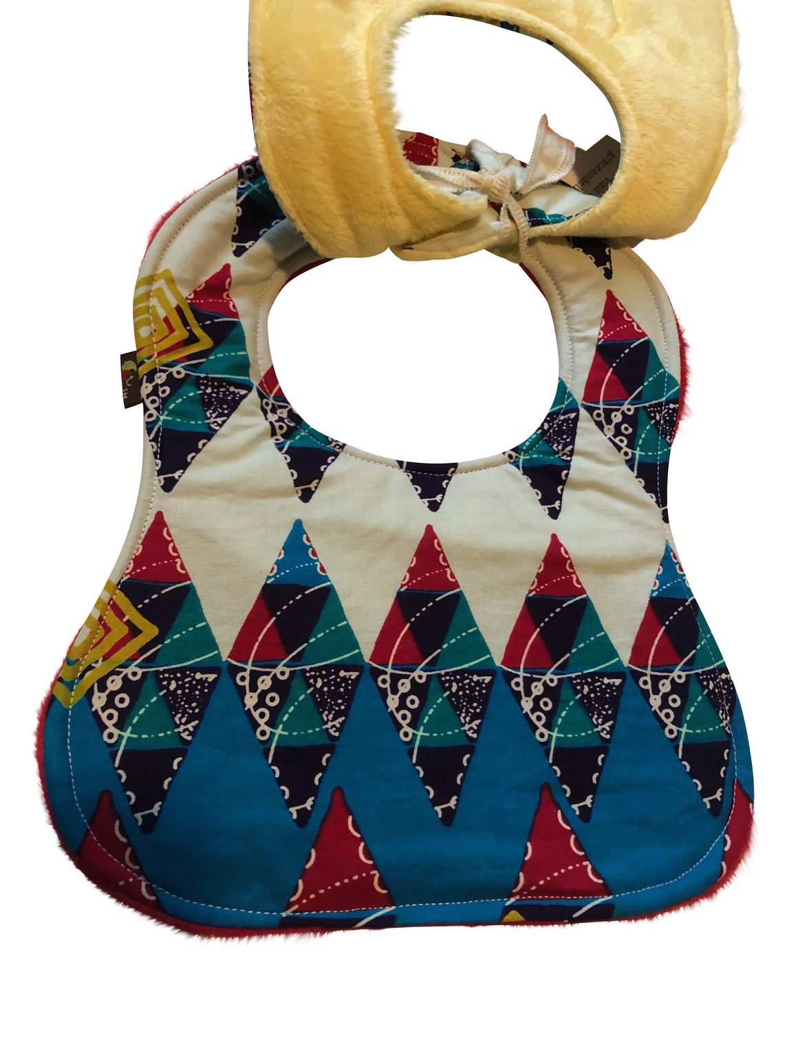 Nana Gold African Print 2-PC Baby Bib Set (Pocketed Edition)