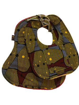 Love Button African Print 2-PC Baby Bib Set (Pocketed Edition)