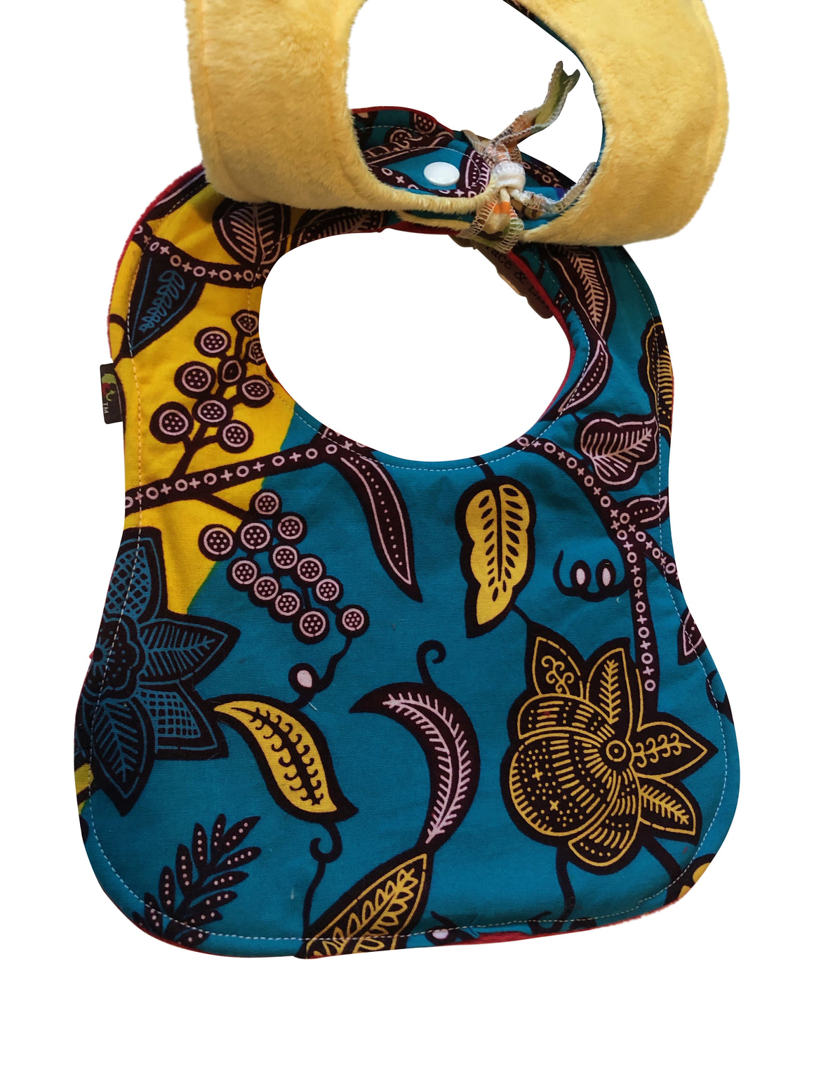 Adowa African Print 2-PC Baby Bib Set (Pocketed Edition)