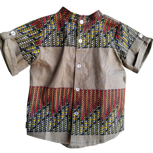 Junior Explorer Basket Weave Short Sleeve Shirt