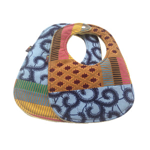 Light Up My World Patchwork 2-Pack African Print Baby Bib Set (Limited Edition)