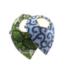 Light Up the Way 2-Pack African Print Baby Bib Set (Limited Edition-Heart on Heart)