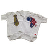 African Map Appliqué Bodysuit (Blue and Red)