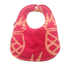 Sweet Pineapples and Love Moon 2-Pack Batik Baby Bib Set (Limited Edition)