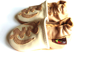Shoes - Gye-Nyame Tan Baby Shoes