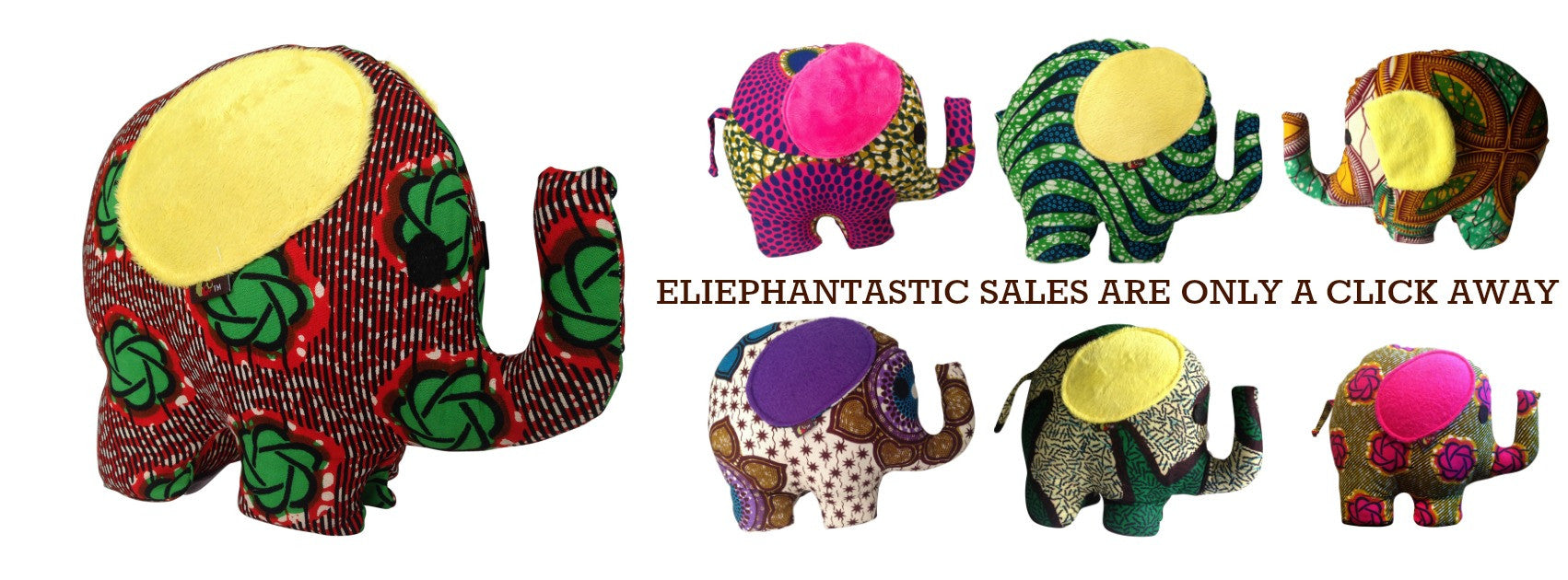 AFRICAN PRINT STUFFED TOYS