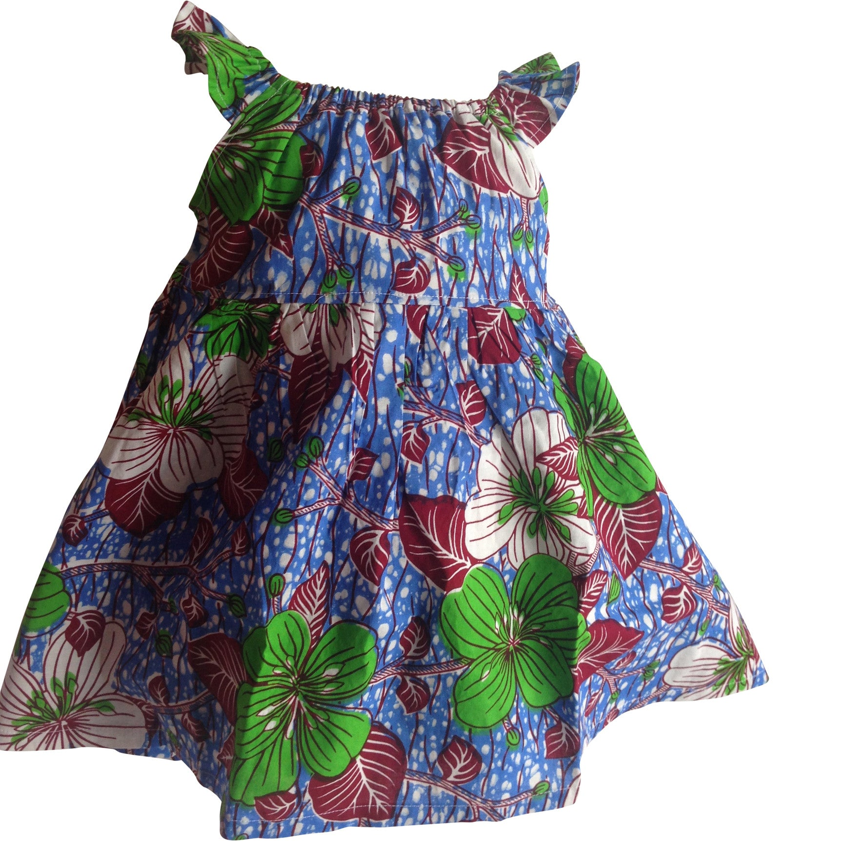 AFRICAN PRINT GIRLS' SUMMER DRESSES
