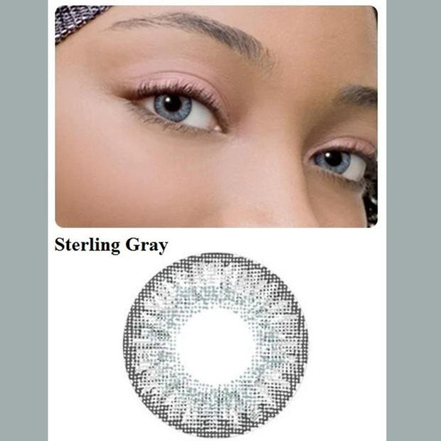 Bright grey (12 months) contact lenses