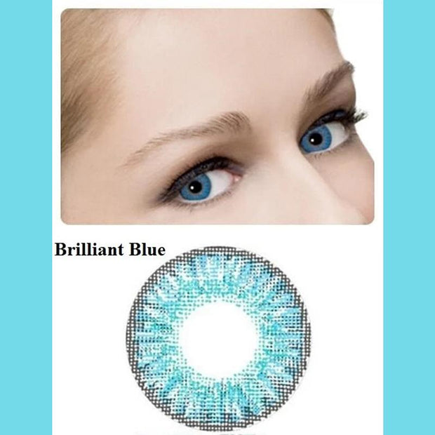 Natural gemstone fire blue (12 months) contact lenses
