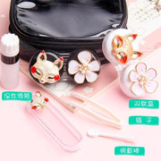 Contact lens case cute personality simple and portable lens box