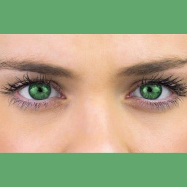 Brilliant green (12 months) contact lenses