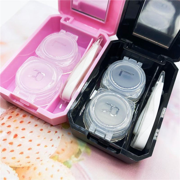 Simple contact lens box care box