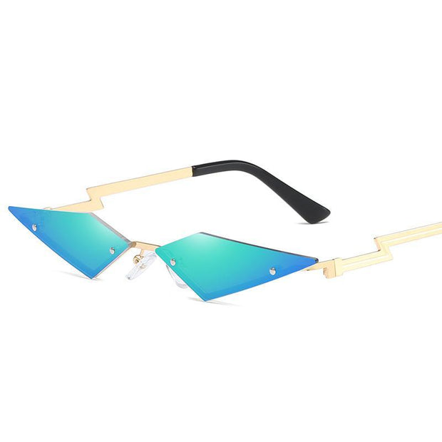 £¨No degree£©New fashion frameless sunglasses European and American personality color film street shot sunglasses