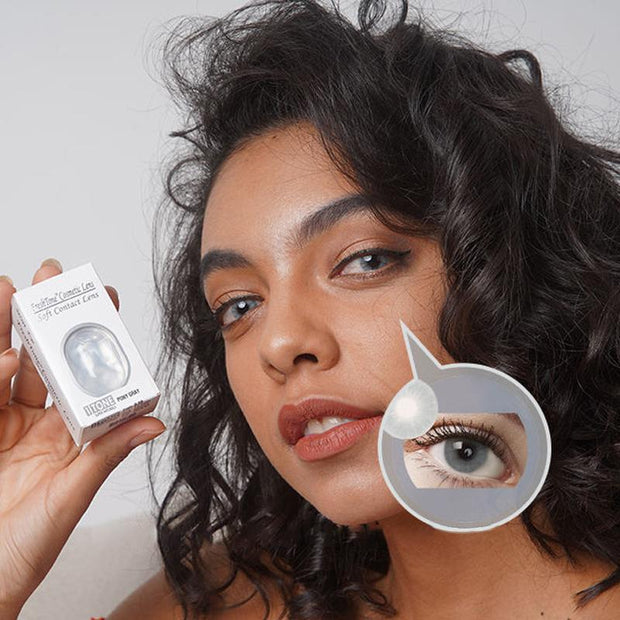 Natural white gold (12 months) contact lenses