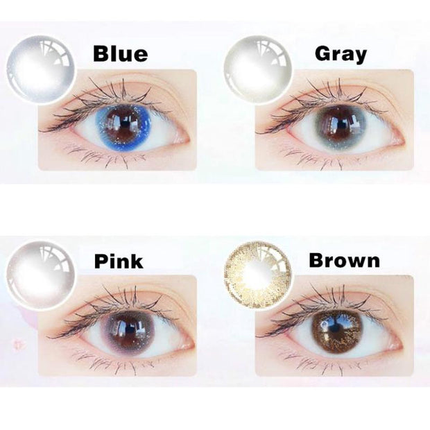 Starry sky brown (12 months) contact lenses