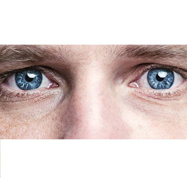 Men's marble blue (12 months) contact lenses