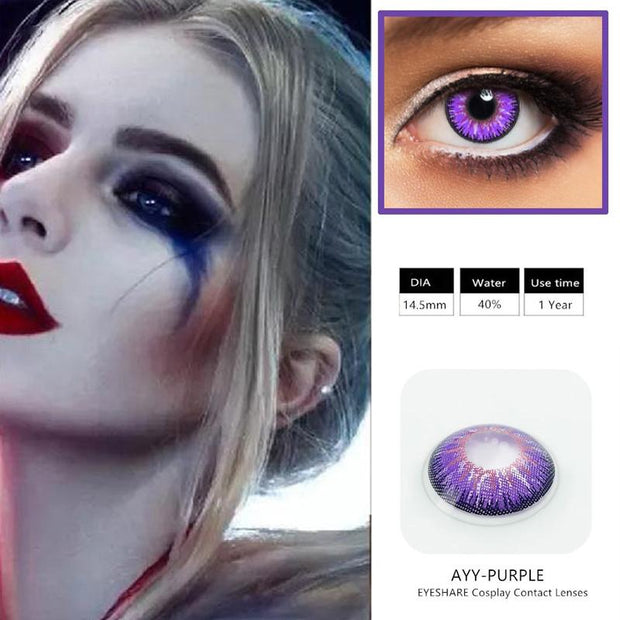 Halloween cos clown girl (12 months) cosmetic contact lenses