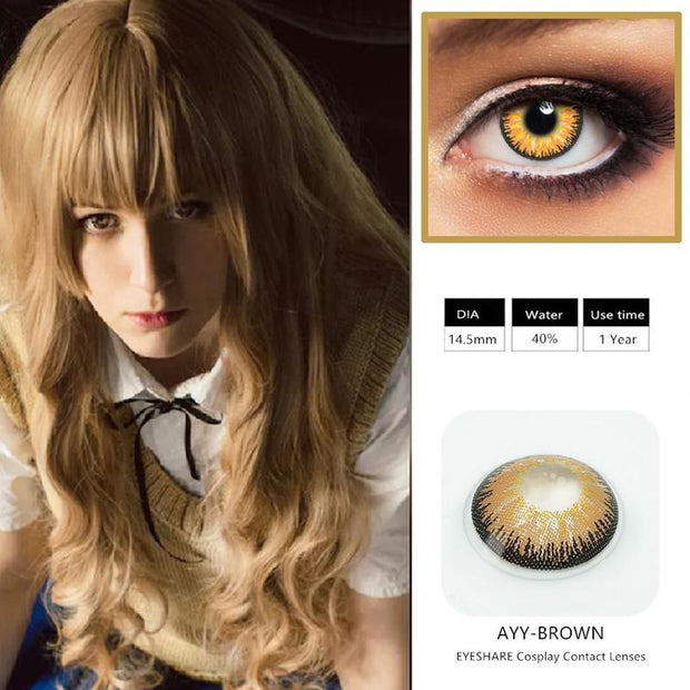 Halloween flame yellow (12 months) cosmetic contact lenses