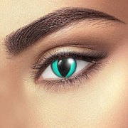 cosplay cat eye bright green (12 months) contact lenses