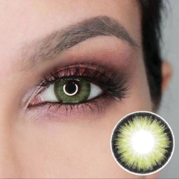 Natural Candy Green (12 months) contact lenses