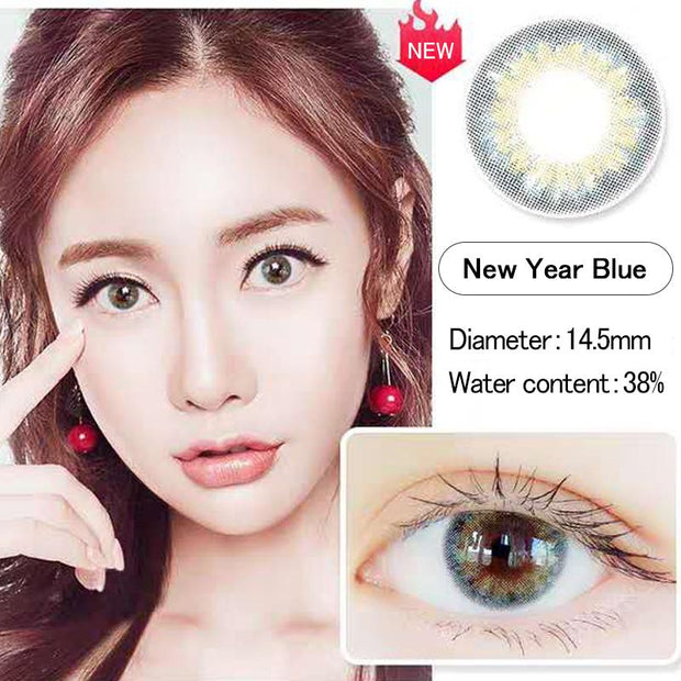 Natural new explosion light blue (12 months) contact lenses