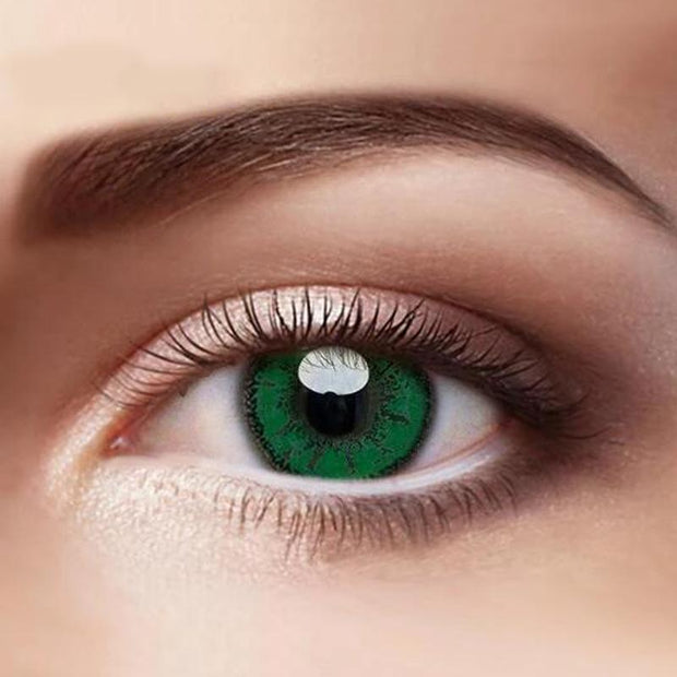 Eye Circle Lens Milk Green Colored Contact Lenses - fameou