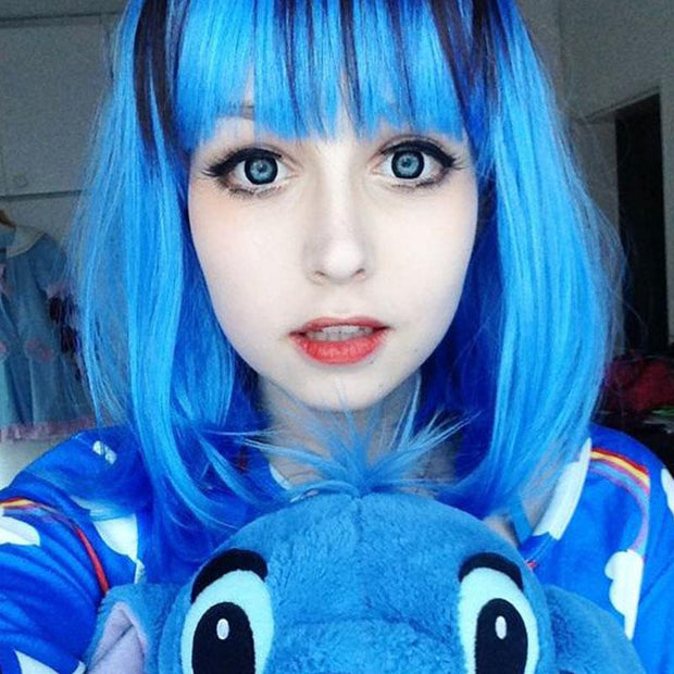 cosplay Stitch blue black (12 months) contact lenses