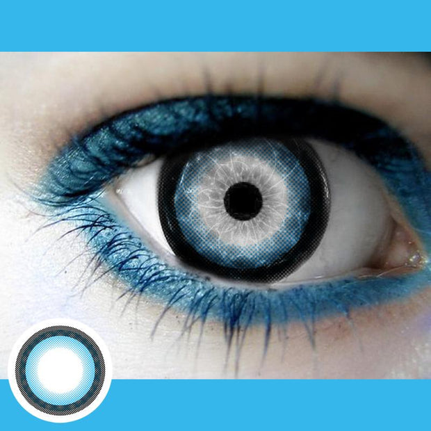Natural blue (12 months) contact lenses