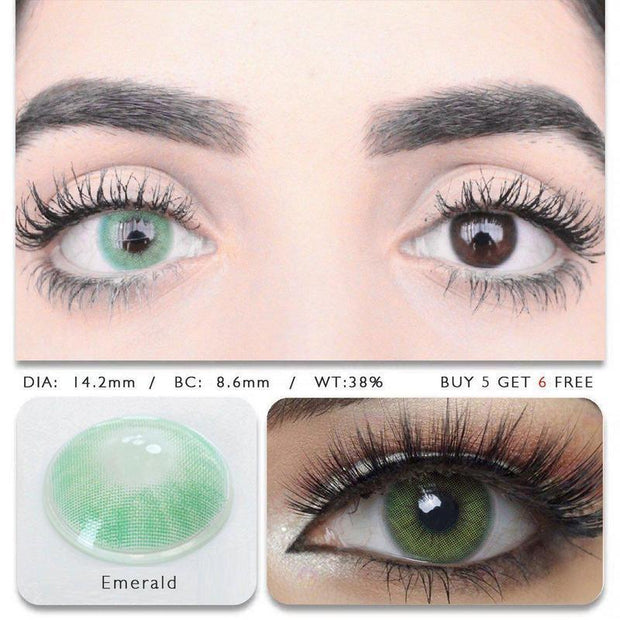 Hidrocor Emerald (12 Month) Contact Lenses - ilabar