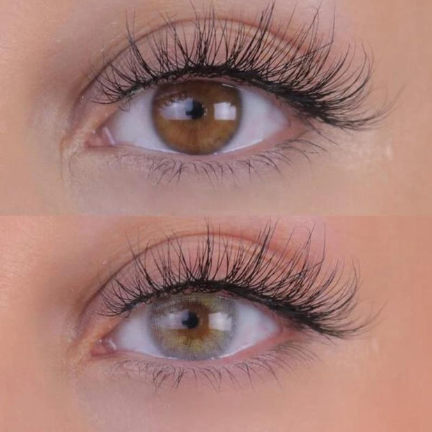 Natural three-color (12 months) contact lenses