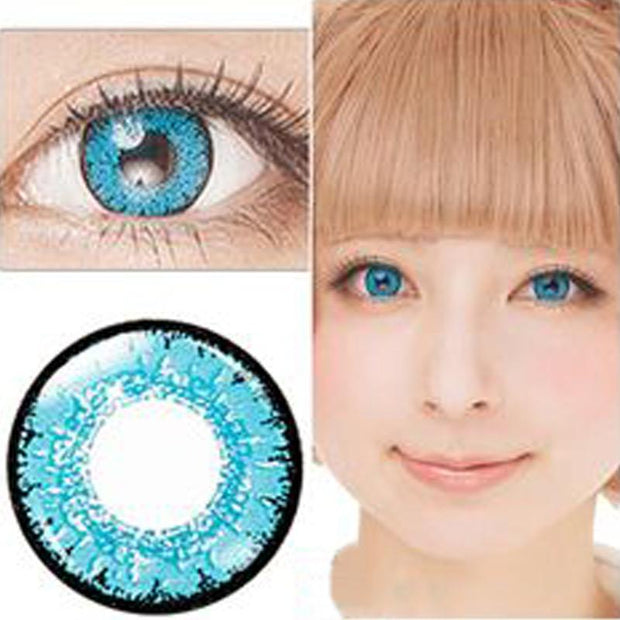 Natural shiny blue eyes (12 months) contact lenses