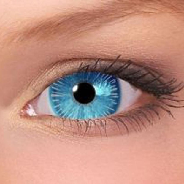 Bright color firework blue eyes (12 months) contact lenses