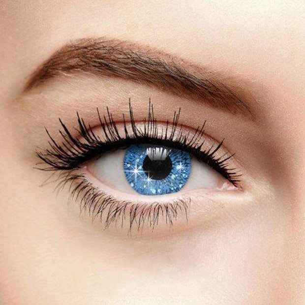 Snowflake shiny blue (12 months) contact lens