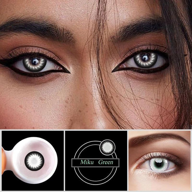 Eye Circle Lens Hibiscus Black Colored Contact Lenses - fameou