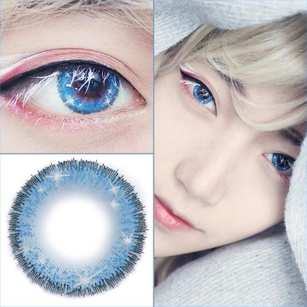 cosplay snowflake blue eyes (12 months) contact lenses