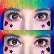 cosplay multicolored rainbow eyes (12 months) contact lenses